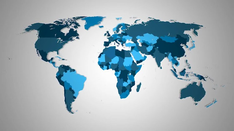 World Countries Combine: Stock Motion Graphics