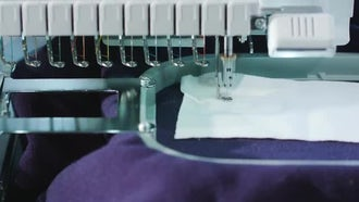 Testing Embroidery Machine Work: Stock Video