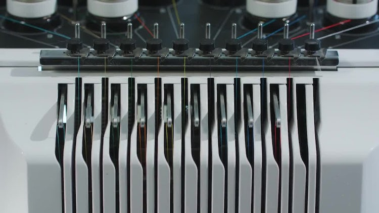 Embroidery Machine Work: Stock Video