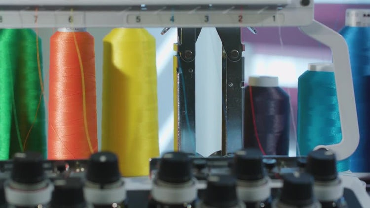 Skein Thread Stand For Embroidery Machines: Stock Video