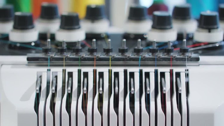 Embroidery Machine Thread : Stock Video