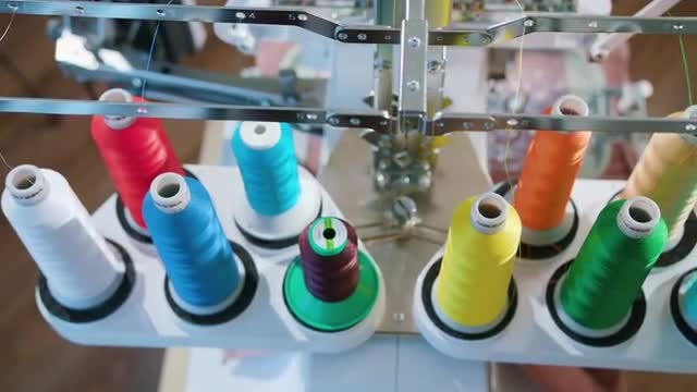 Skein Thread Stand for Embroidery : Stock Video