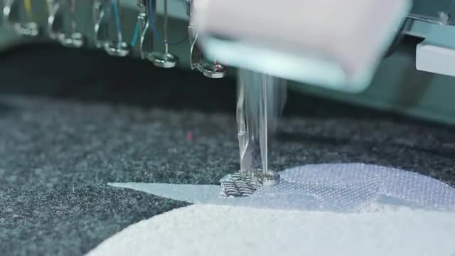 Embroidery Machine Sewing: Stock Video
