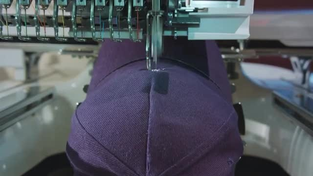 Logo Embroidered On Cap: Stock Video