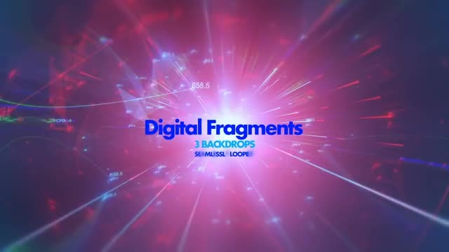 Digital Fragments Pack 01: Stock Motion Graphics