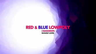 Red & Blue Poly: Motion Graphics