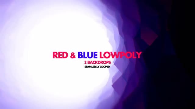 Red & Blue Poly: Stock Motion Graphics