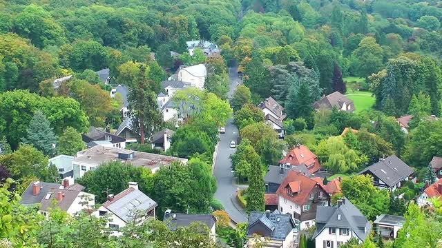 Little Town In Forest In Frankfurt Time Lapse: Stock Video