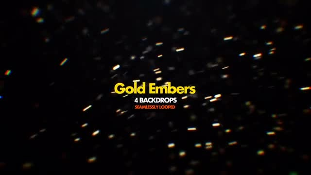 Gold Embers Pack 01: Stock Motion Graphics