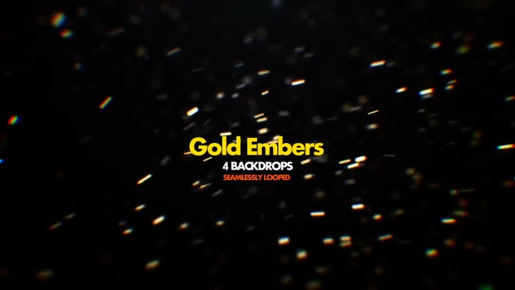 Gold Embers Pack 01: Motion Graphics