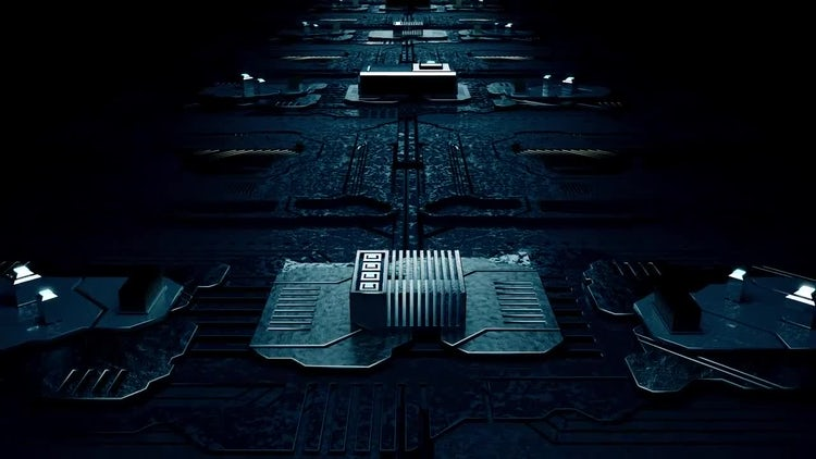 Circuit Board Loop V2: Motion Graphics