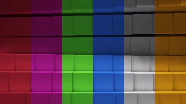 Cubic Colorful Loop Background: Stock Motion Graphics
