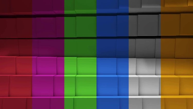 Cubic Colorful Loop Background: Motion Graphics