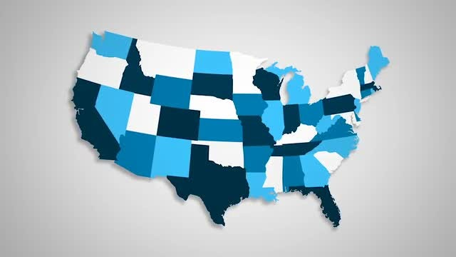 USA States Combine: Stock Motion Graphics
