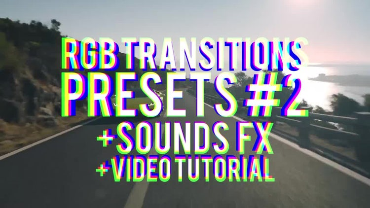 RGB Transitions Presets #2: Premiere Pro Presets