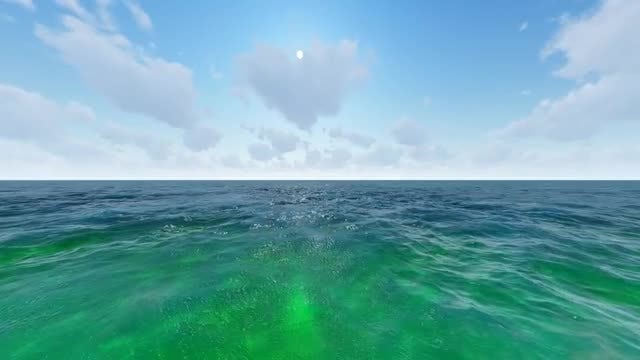 The Sea On A Sunny Day: Stock Motion Graphics