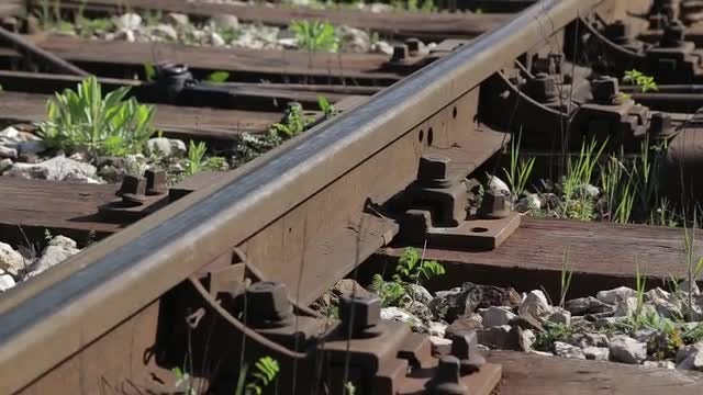 Rail At Train Station: Stock Video