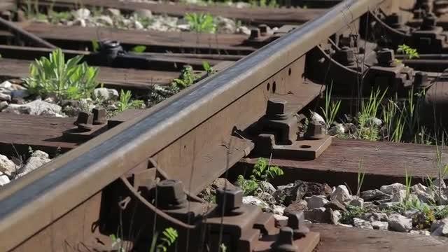 Rail At Train Station: Stock Video