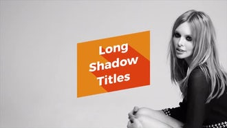 Long Shadow Titles: Motion Graphics Templates