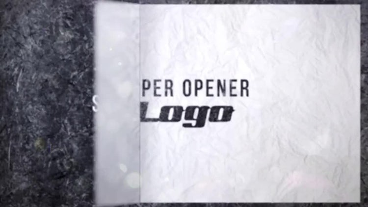 Paper Opener 4K: After Effects Templates