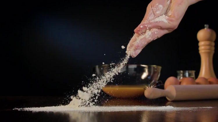 Spreading Flour On Table: Stock Video