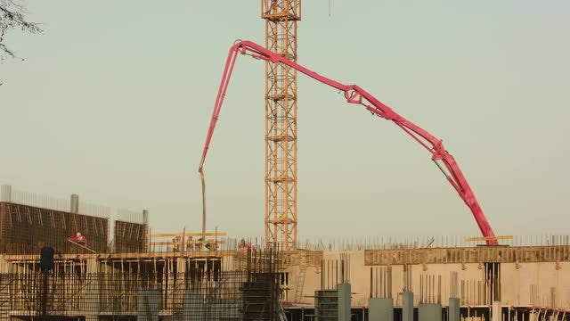 Constuction Builders At Work: Stock Video