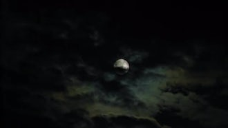 Dark Clouds Covering The Moon: Stock Footage
