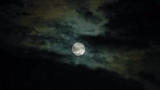 Creepy Full Moon Black Sky : Stock Footage