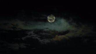 New Moon And Clouds: Stock Footage