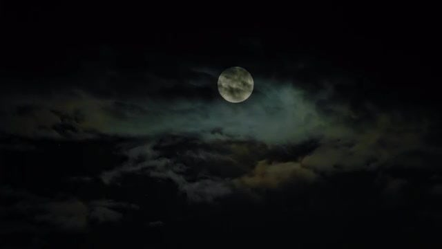 New Moon And Clouds: Stock Video