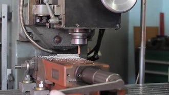 Automated Drill CNC Machine: Stock Video