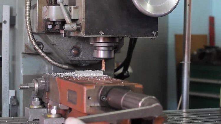 Automated Drill CNC Machine: Stock Video