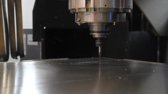 Programmable CNC Drilling Machine: Stock Video