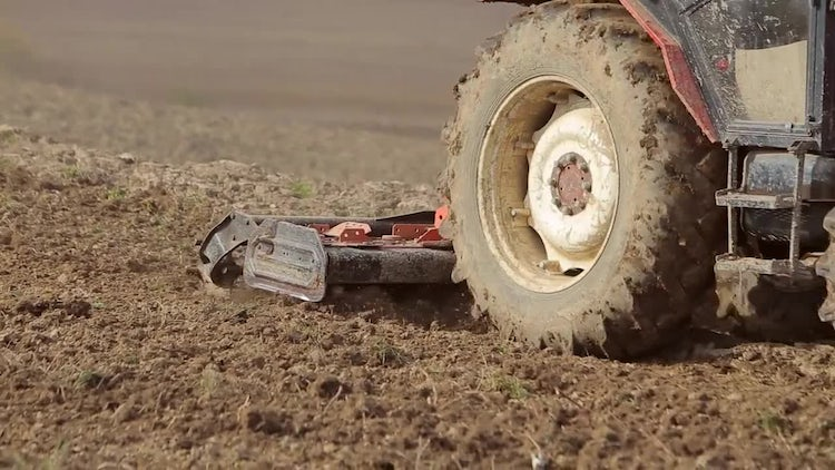 Tractors Preparing Land For Sowing: Stock Video