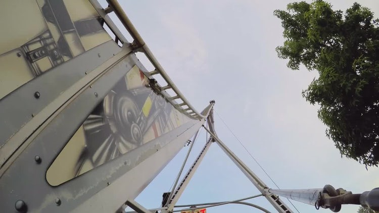 Rollecrcoaster At The Fair: Stock Video