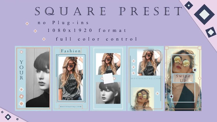 Instagram Stories Square Preset: After Effects Templates