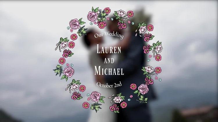 Floral Wedding Titles Pack: Premiere Pro Templates