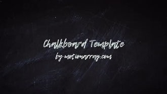 Chalkboard Rock: After Effects Templates