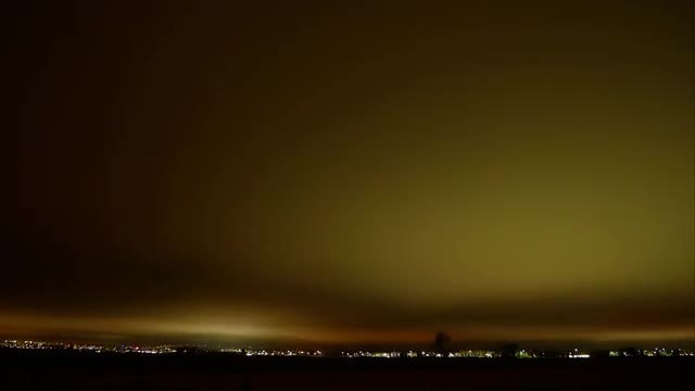 Gold City Dusk Pollution : Stock Video