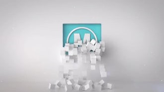 Falling Cubes Logo: After Effects Templates