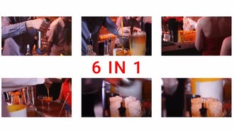 6-In-1 Bar Tender Pack: Stock Video