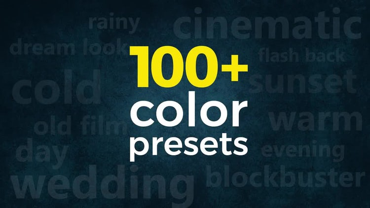 3-in-1 Pack: 100+ Cinematic & Wedding Color Presets: Premiere Pro Templates