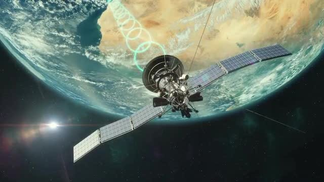 Satellite Transmitting: Stock Motion Graphics
