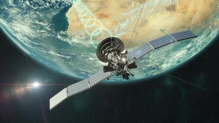 Satellite Transmitting: Stock Motion Graphics