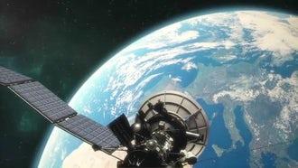 Satellite In Orbit: Motion Graphics