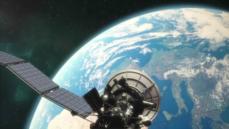 Satellite In Orbit: Stock Motion Graphics