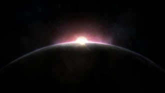 Sunrise Over Planet Earth: Motion Graphics