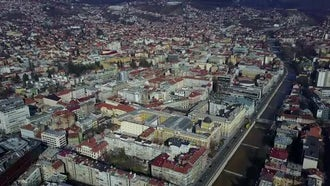 Sarajevo City Aerial View : Stock Video