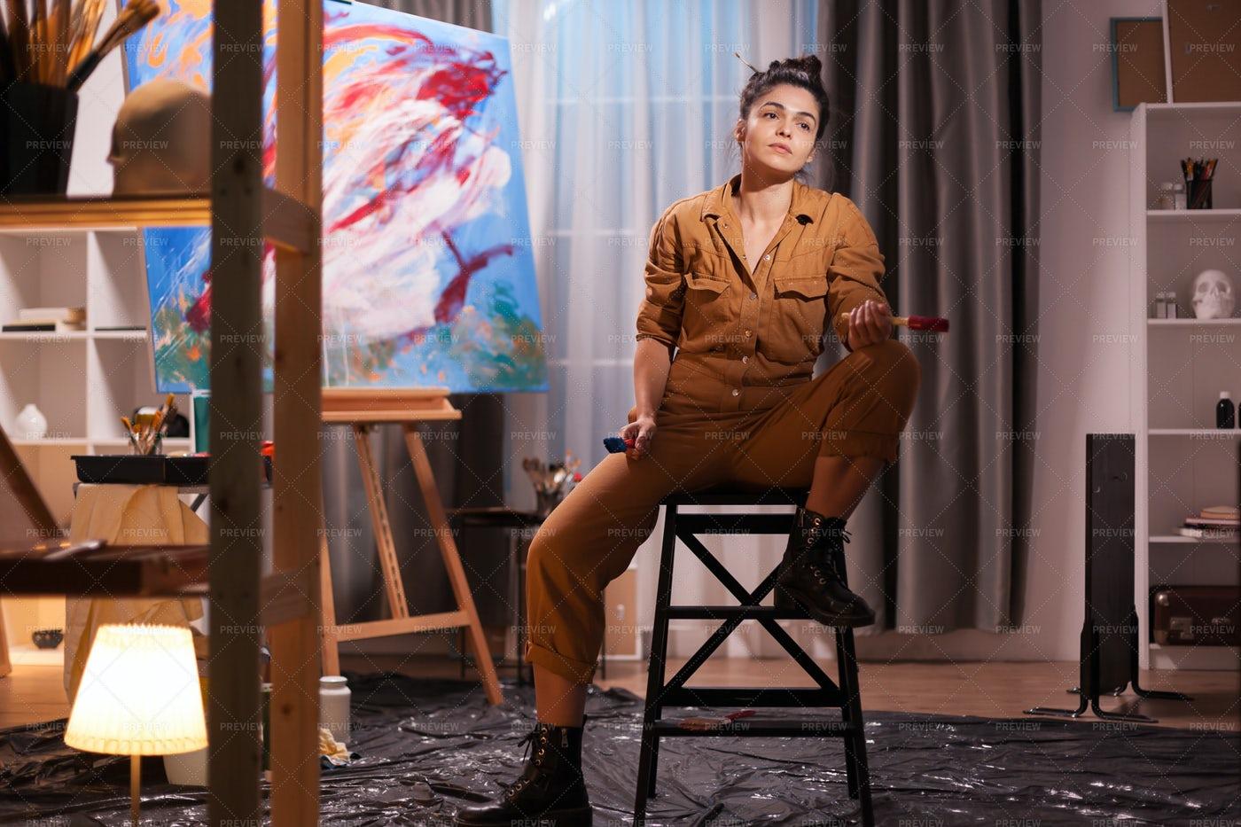 Artist On The Chair: Stock Photos