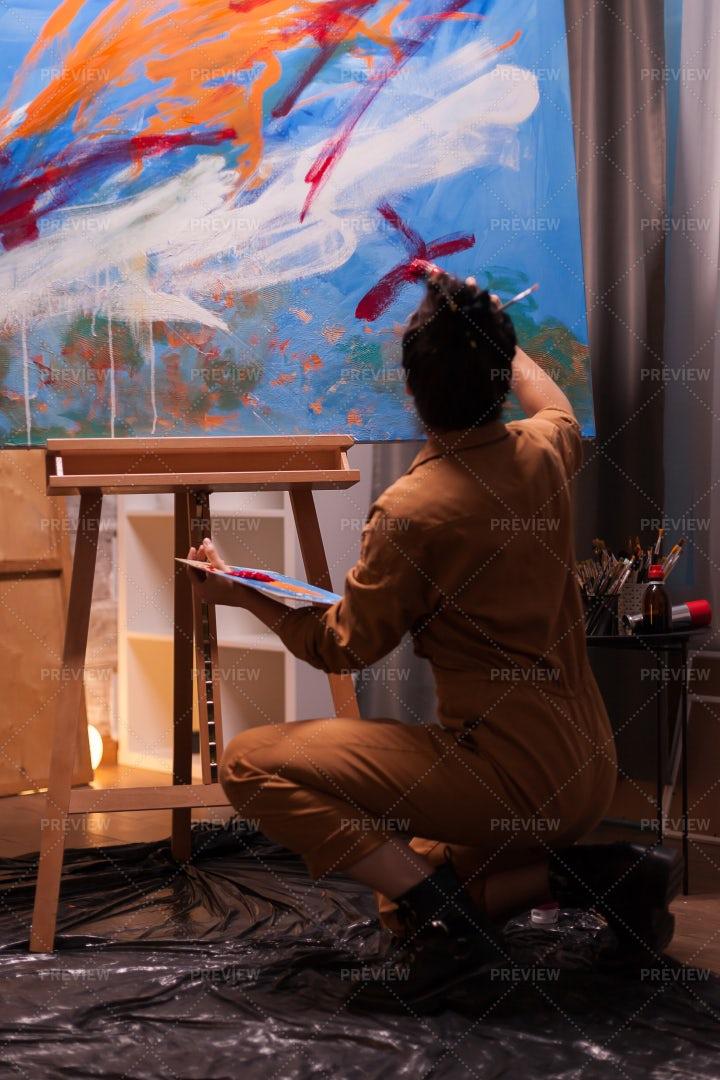 Back View Of An Artist: Stock Photos